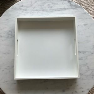 White Square Coffee Table / Serving Tray